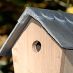 BGO Natural Bird Box in seasoned oak with recycled slate and lead roof. £40
